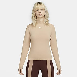 Nike Sportswear Collection Essentials Haut à manches longues et col montant pour Femme