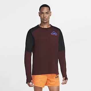 Nike Camisola de running de manga comprida para trilhos para homem