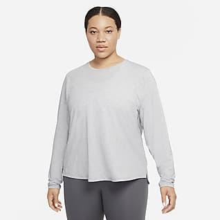 Nike Dri-FIT One Luxe Prenda para la parte superior de manga larga de ajuste estándar para mujer (talla grande)