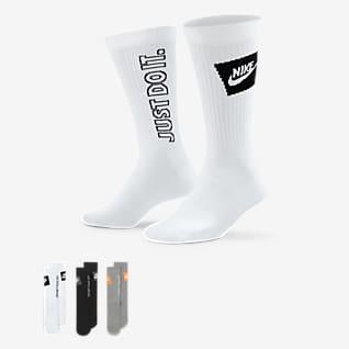 Nike Sportswear Everyday Essential Κάλτσες μεσαίου ύψους (τρία ζευγάρια)