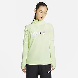 Nike Swoosh Run Γυναικεία μπλούζα για τρέξιμο