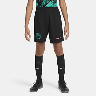 F.C. Barcelona 2020/21 Stadium Third Older Kids' Football Shorts