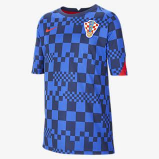 Nike Dri-FIT de Croacia Camiseta de fútbol de manga corta para niños talla grande