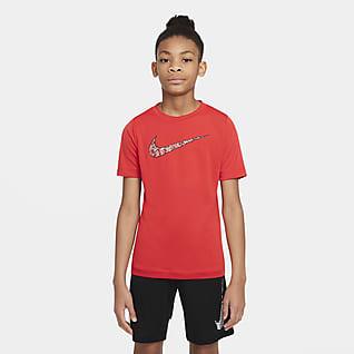 Nike Dri-FIT Trophy Camiseta de entrenamiento estampado para niño