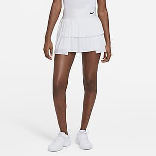 NikeCourt Advantage Veckad tenniskjol för kvinnor