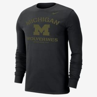 Nike College Dri-FIT (Michigan) Men's Long-Sleeve T-Shirt