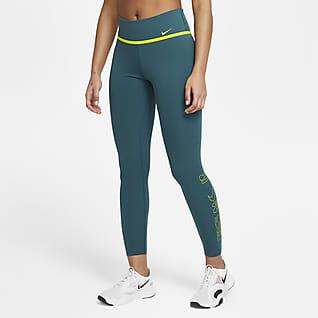 Nike One Icon Clash Leggings con gráfico de tiro medio de 7/8 para mujer