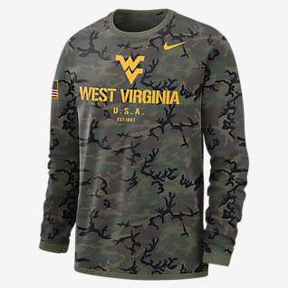 Nike College Dri-FIT (West Virginia) Men's Long-Sleeve Sweatshirt