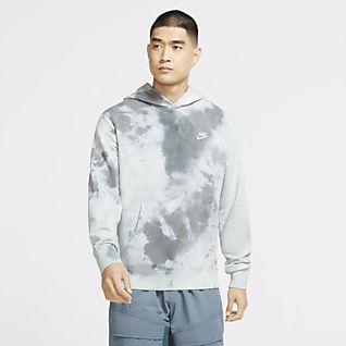 Nike Sportswear Felpa pullover tie-dye con cappuccio - Uomo