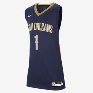 Pelicans Icon Edition Nike NBA Swingman-trøje til store børn