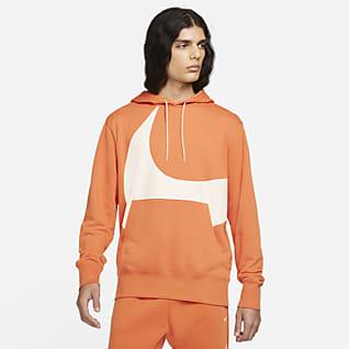 Nike Sportswear Swoosh Sudadera con gorro sin cierre semicepillada en la parte posterior para hombre