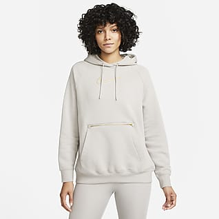 NIke Sportswear Felpa oversize in fleece con cappuccio - Donna