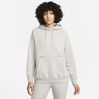 Nike Sportswear Túlméretezett szabású, kapucnis női polárpulóver