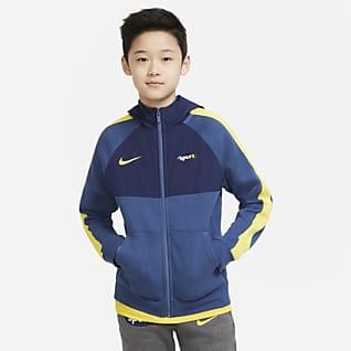 Tottenham Hotspur Rozpinana bluza z kapturem dla dużych dzieci