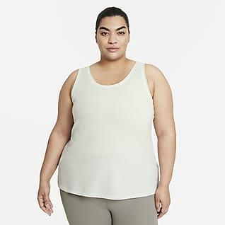 Nike Yoga Dri-FIT Camiseta de tirantes con teñido especial para mujer talla grande