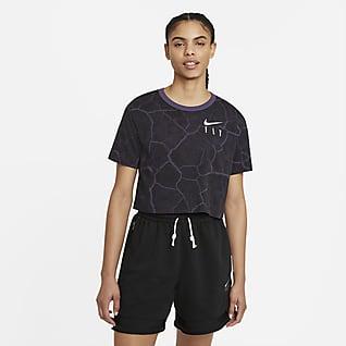 Nike Swoosh Fly Women's Cropped Basketball T-Shirt