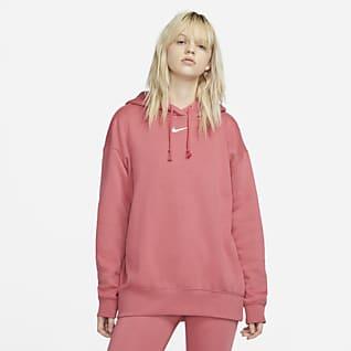 Nike Sportswear Essential Collection Oversized fleecehoodie voor dames