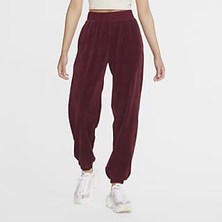 Nike Sportswear Dámské sametové kalhoty