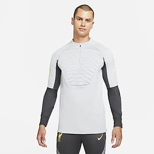Liverpool F.C. Strike Winter Warrior Męska treningowa koszulka piłkarska Nike Therma-FIT