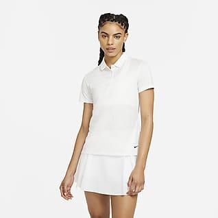 Nike Dri-FIT Γυναικεία εμπριμέ μπλούζα πόλο για γκολφ