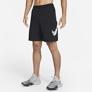 Nike Flex Trainingsshorts met camouflageprint en graphic voor heren