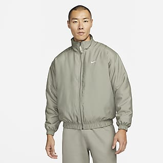Nike Solo Swoosh 男/女缎面夹克