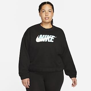 Nike Sportswear Icon Clash Women's Oversized Fleece Crew (Plus Size)