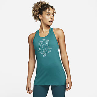 Nike Yoga Dri-FIT Singlet med grafikk til dame