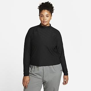 Nike Sportswear Icon Clash Camiseta de manga larga y cuello alto para mujer talla grande