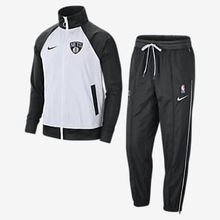 Brooklyn Nets Courtside Nike NBA-tracksuit för män