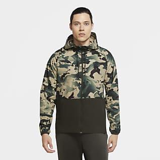 Nike Pro Flex Vent Camo-Jacke mit durchgehendem Reißverschluss für Herren