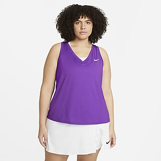 NikeCourt Victory Женская теннисная майка (большие размеры)