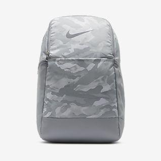 Nike Brasilia 9.0 เป้สะพายหลังเทรนนิ่งพิมพ์ลาย (ขนาดกลาง)