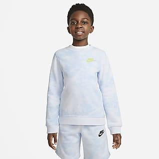 Nike Sportswear Magic Club Batikovaná mikina skulatým výstřihem pro větší děti (chlapce)