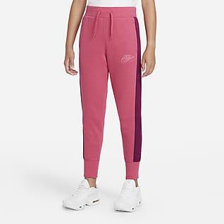 Nike Sportswear Club Fleece Icon Clash Bukse til store barn (jente)