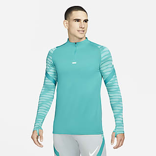 Nike Dri-FIT Strike เสื้อฝึกซ้อมฟุตบอลผู้ชายซิปสั้น