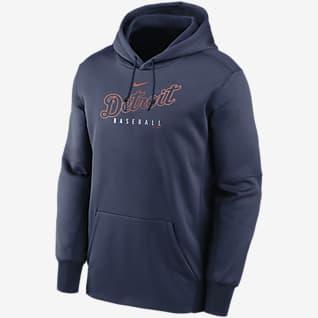 Nike Therma Outline Wordmark (MLB Detroit Tigers) Men's Pullover Hoodie