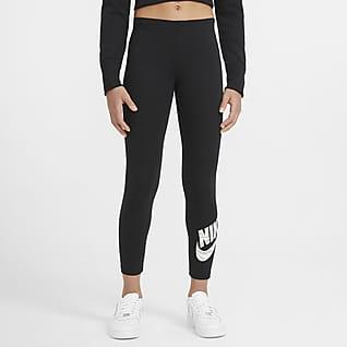 Nike Sportswear Favorites Legíny s grafickým motivem pro větší děti (dívky)