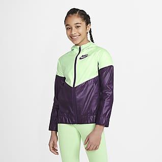 Nike Sportswear Windrunner Chamarra para niñas talla grande