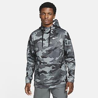 Nike Therma-FIT Men's Pullover Camo Training Hoodie