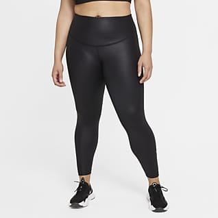 Nike One Leggings de 7/8 de cuero sintético para mujer (talla grande)