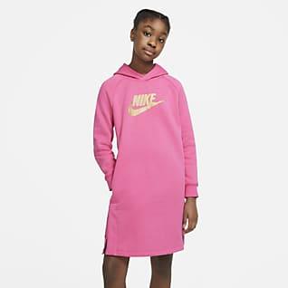 Nike Sportswear Vestido con capucha para niña talla grande