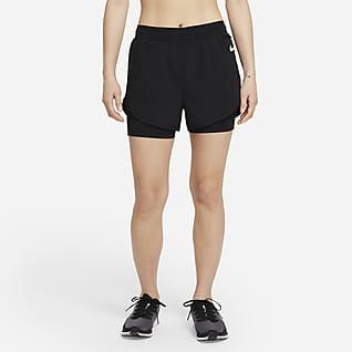 Nike Tempo Luxe กางเกงวิ่งขาสั้น 2-In-1 ผู้หญิง