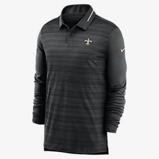 Nike Logo (NFL Saints) Men's Long-Sleeve Polo