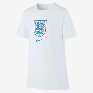 England Fotbolls-t-shirt för ungdom
