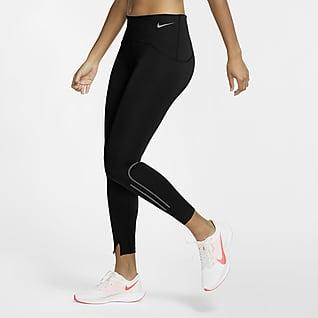 Nike Speed Γυναικείο κολάν προπόνησης με ματ όψη και μήκος 7/8
