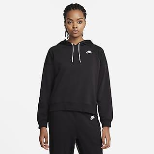 Serena Design Crew Felpa da tennis con cappuccio in fleece - Donna
