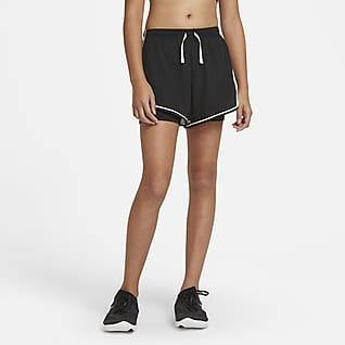 Nike Dri-FIT Tempo Løpeshorts med trykk til store barn (jente)