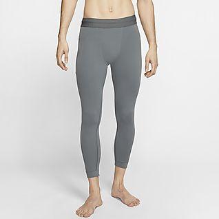 Nike Yoga กางเกงรัดรูปผู้ชาย 3/4 ส่วน Infinalon