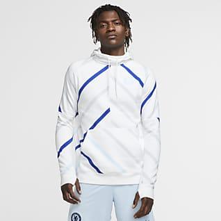 Chelsea FC Sweat à capuche de football en tissu Fleece pour Homme